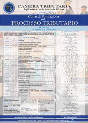 Undicesima del Corso di formazione sul processo tributario