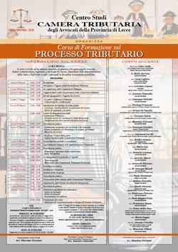 Corso di formazione sul Processo Tributario