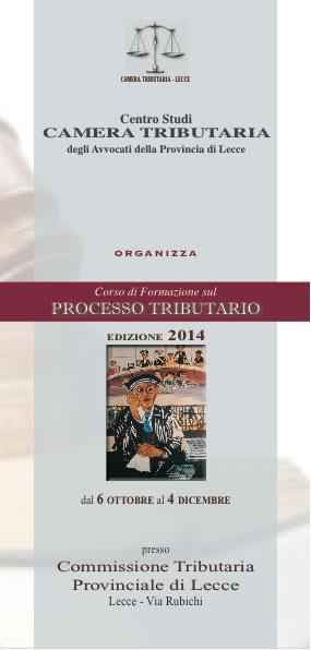 Locandina Processo Tributario 2014